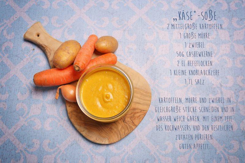 Keesesauce, vegan und ohne Zucker
