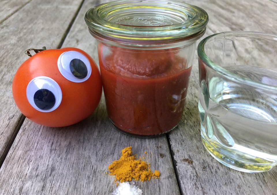 Tomatenketchup, zuckerfrei, mit nur 4 Zutaten