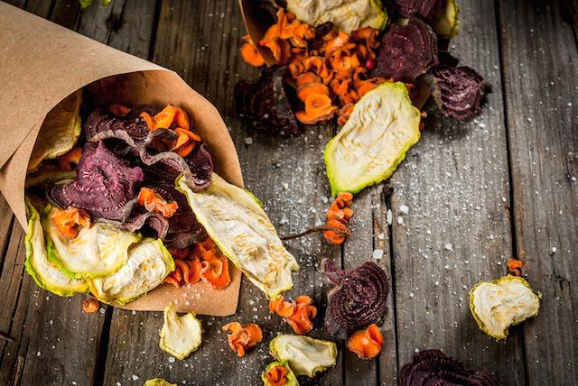 Bunte Gemüse-Chips