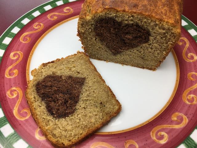 Zuckerfreier veganer Herzkuchen