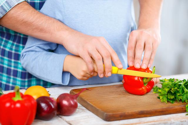 Gesunde Ernährung beginnt mit gemeinsamen Kochen